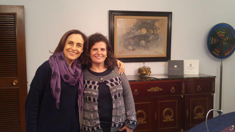 Con Diana Bracho