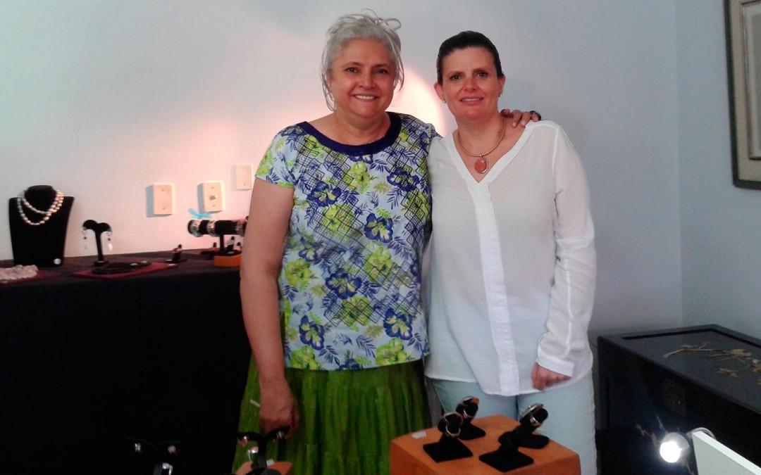 Con Laura Esquivel en el showroom de Mayo 2015